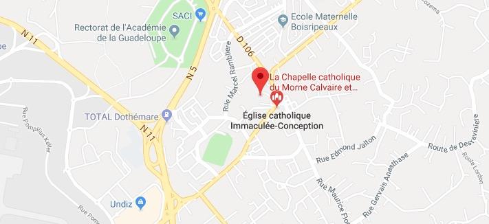 La Chapelle catholique du Morne Calvaire et de la Notre Dame de Guadeloupe